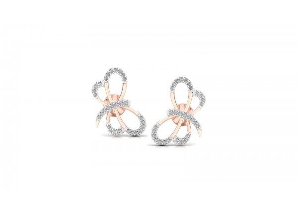 18K Rose Gold IF-HI Diamond Earring 0.26 ct-SDER3306