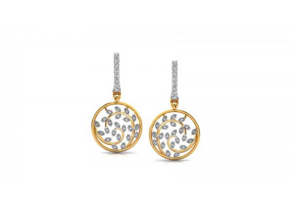 18K Yellow Gold IF-HI Diamond Earring 0.552 ct-SDER3356