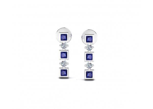 18K White Gold IF-HI Diamond Earring 0.14 ct-SDER3449