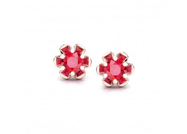 18K Rose Gold IF-HI Diamond Earring 0 ct-SDER3484