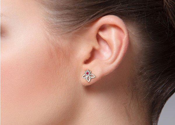 18K Rose Gold IF-HI Diamond Earring 0.176 ct-SDER3496