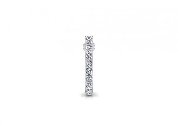 18K White Gold IF-FG Diamond Nosepin 0.1 ct-SDNP1117