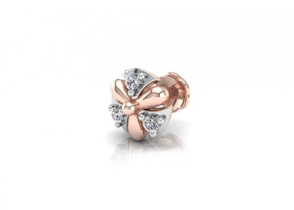 18K Rose Gold IF-FG Diamond Nosepin 0.027 ct-SDNP1123