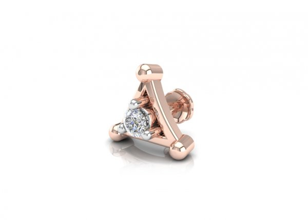 18K Rose Gold IF-FG Diamond Nosepin 0.035 ct-SDNP1124