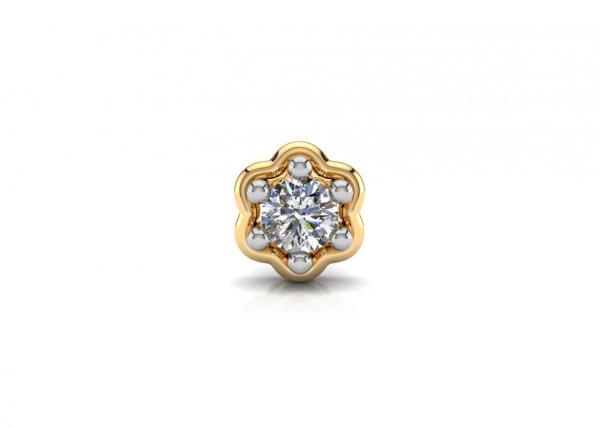 18K Yellow Gold IF-FG Diamond Nosepin 0.035 ct