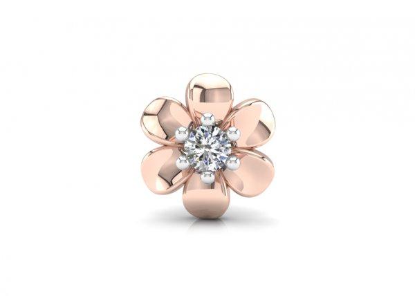 18K Rose Gold IF-FG Diamond Nosepin 0.035 ct