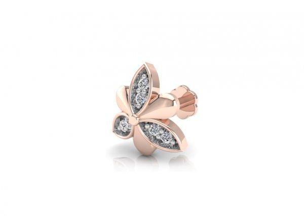 18K Rose Gold IF-FG Diamond Nosepin 0.03 ct-SDNP1148