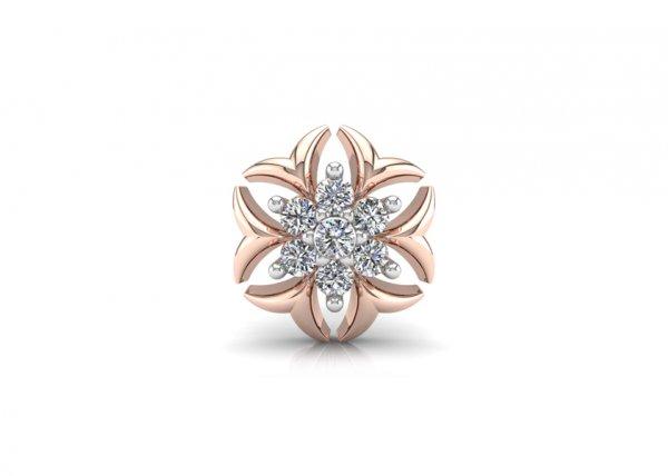 18K Rose Gold IF-FG Diamond Nosepin 0.028 ct-SDNP1154