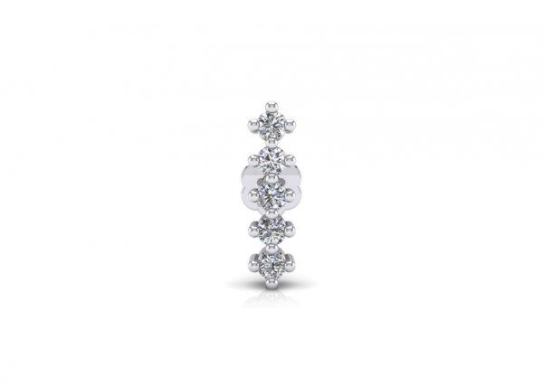 18K White Gold IF-FG Diamond Nosepin 0.025 ct-SDNP1155