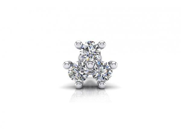 18K White Gold IF-FG Diamond Nosepin 0.06 ct-SDNP1165