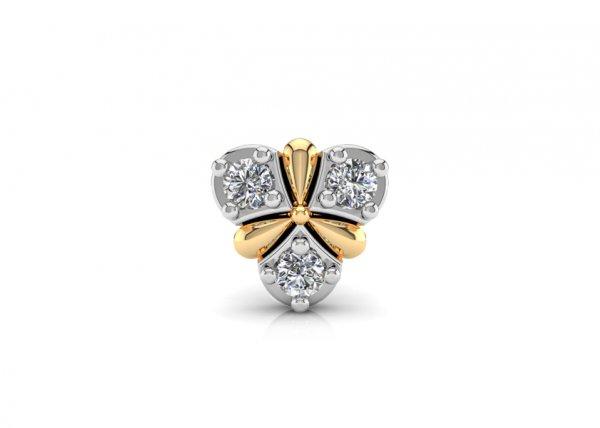 18K Yellow Gold IF-FG Diamond Nosepin 0.06 ct-SDNP1172