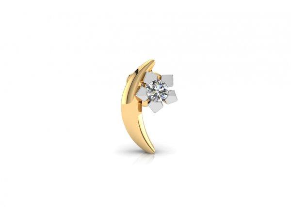 18K Yellow Gold IF-FG Diamond Nosepin 0.011 ct-SDNP1177