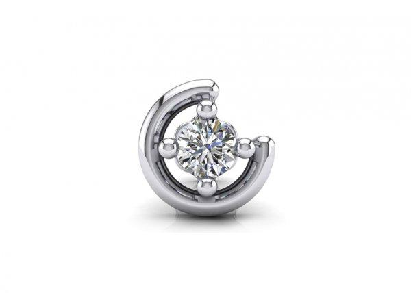 18K White Gold IF-FG Nova Diamond Nosepin 0.035 ct