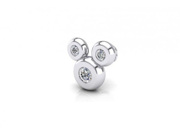18K White Gold IF-FG Diamond Nosepin 0.039 ct