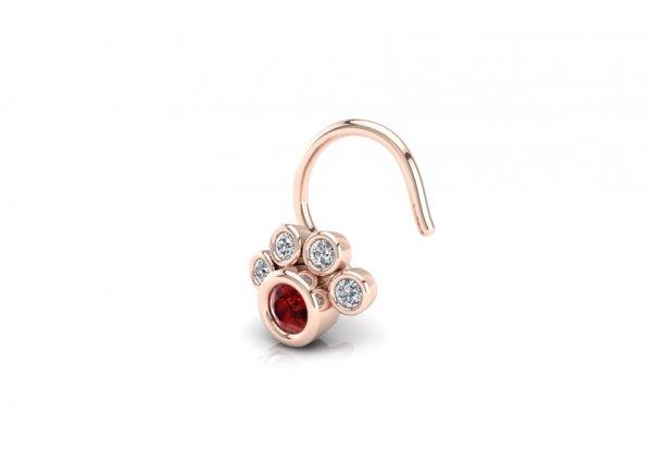 18K Rose Gold IF-FG Diamond Nosepin 0.024 ct