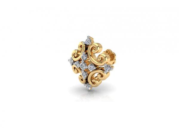 18K Yellow Gold IF-FG Diamond Nosepin 0.047 ct-SDNP1361