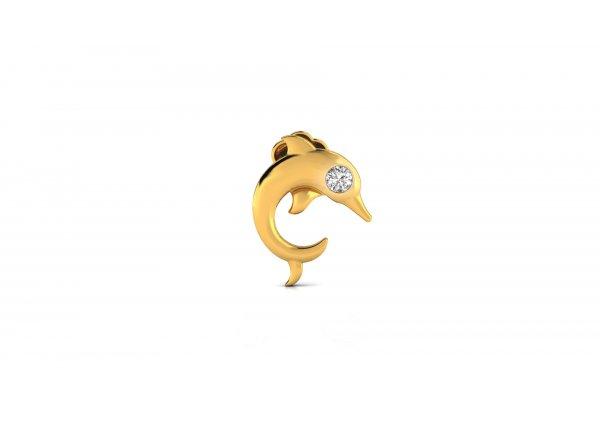 18K Yellow Gold IF-HI Diamond Nosepin 0.01 ct-SDNP1470