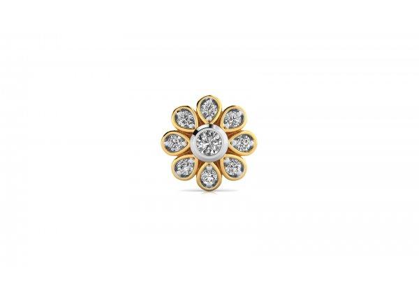 18K Yellow Gold IF-HI Diamond Nosepin 0.107 ct-SDNP1515