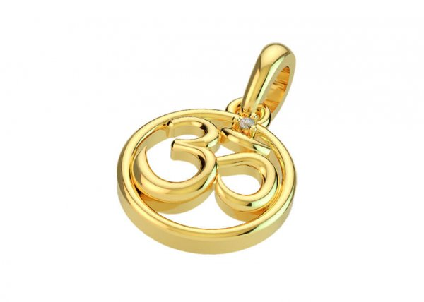 Chakra Om Diamond Pendant