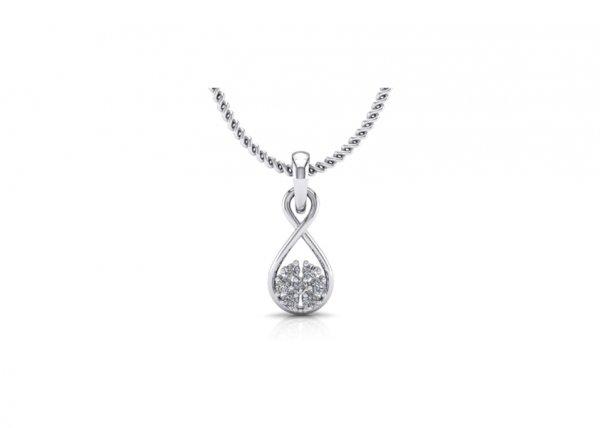 18K White Gold IF-FG Hailey Diamond Pendant 0.077 ct