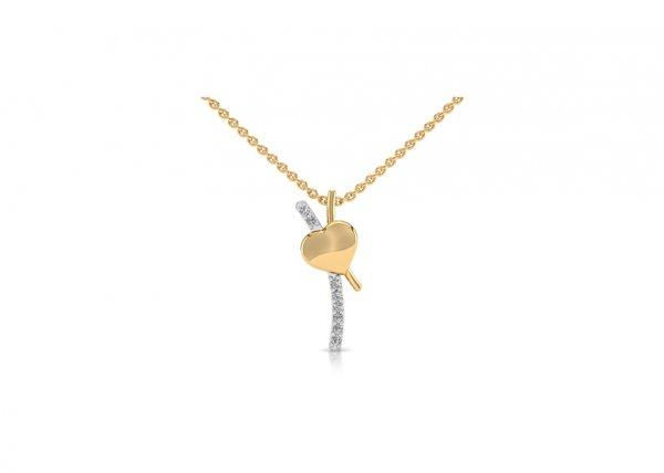 18K Yellow Gold IF-FG Diamond Pendant 0.04 ct-SDPD1537