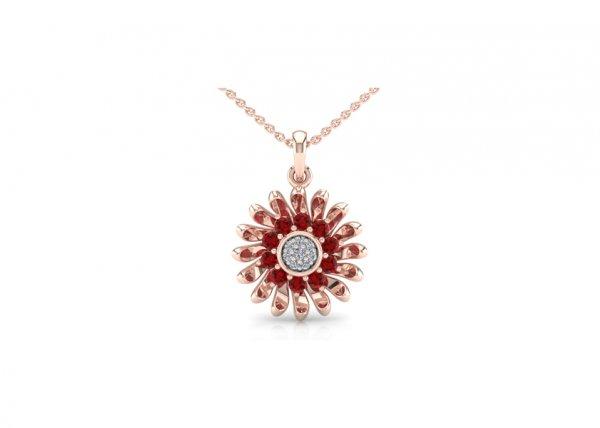 18K Rose Gold IF-FG Diamond Pendant 0.044 ct