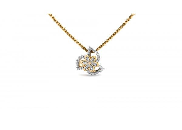 18K Yellow Gold IF-HI Diamond Pendant 0.209 ct-SDPD1704