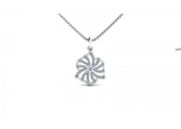 18K White Gold IF-HI Diamond Pendant 0.354 ct-SDPD2224