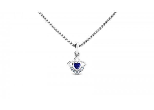 18K White Gold IF-HI Diamond Pendant 0.035 ct-SDPD2261