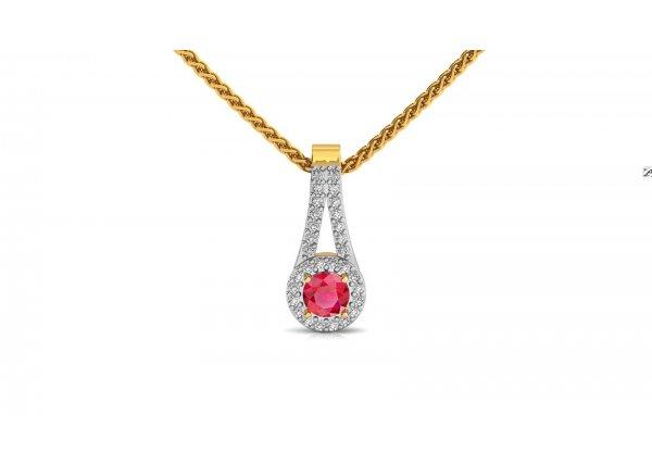 18K Yellow Gold IF-HI Diamond Pendant 0.15 ct-SDPD2292