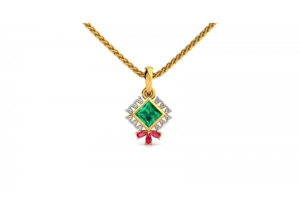 18K Yellow Gold IF-HI Diamond Pendant 0.06 ct-SDPD2307