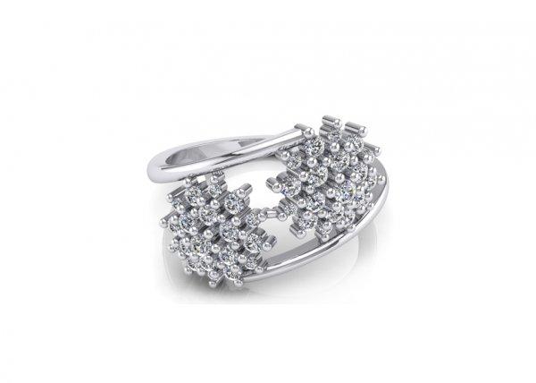 18K White Gold IF-FG Diamond Ring 0.38 ct-SDR1265