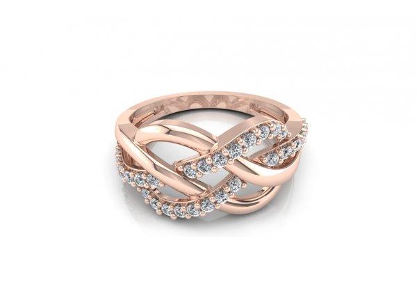 18K Rose Gold IF-FG Diamond Ring 0.262 ct-SDR1338