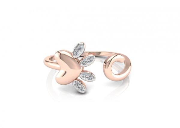 18K Rose Gold IF-FG Diamond Ring 0.024 ct-SDR1414