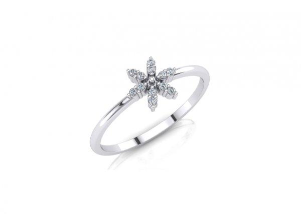 18K White Gold IF-FG Camila Diamond Ring 0.048 Ct