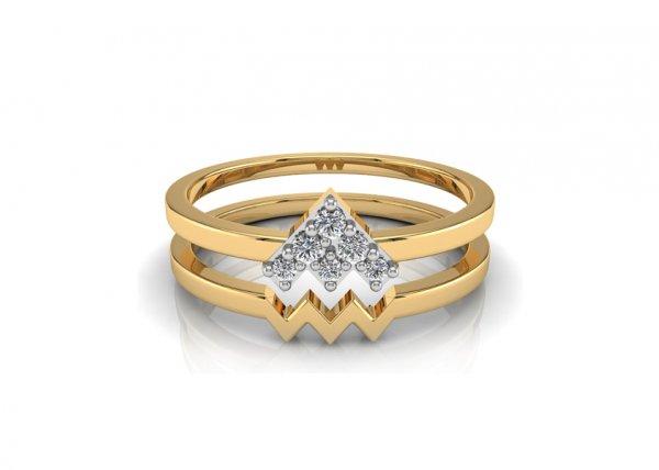 18K Yellow Gold IF-FG Diamond Ring 0.048 ct-SDR1482