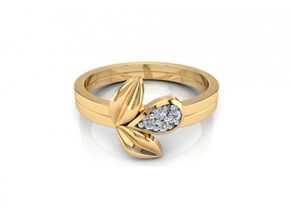 18K Yellow Gold IF-FG Diamond Ring 0.028 ct-SDR1486