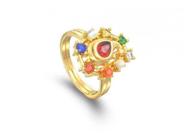 Mayura Stackable Diamond Ring