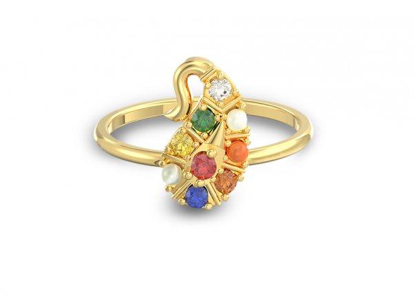 Nartaka Stackable Diamond Ring