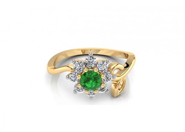 18K Yellow Gold IF-FG Diamond Ring 0.4 ct-SDR1599