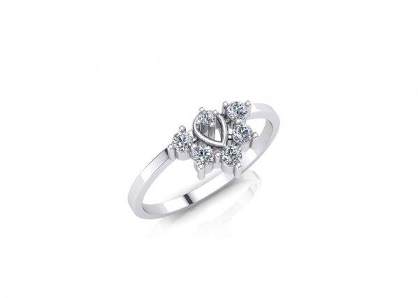 18K White Gold IF-FG Diamond Ring 0.134 ct-SDR1632