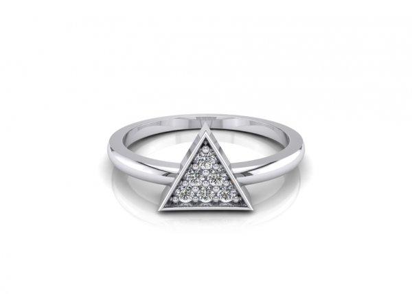 18K White Gold IF-FG Skylar Diamond Ring 0.06 ct-SDR1635