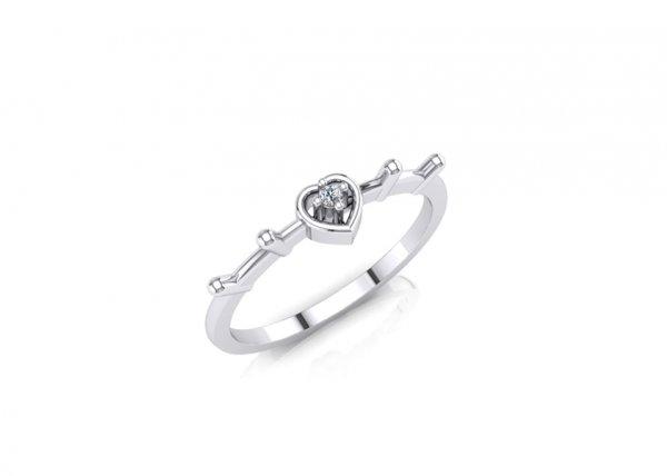 18K White Gold IF-FG Diamond Ring 0.009 ct-SDR1637