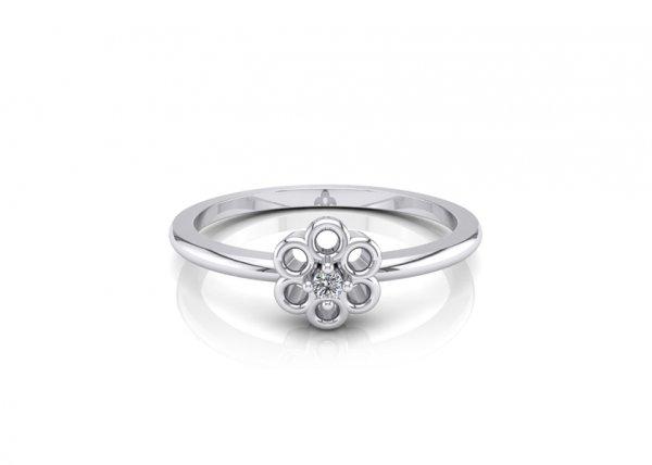 18K White Gold IF-FG Diamond Ring 0.01 ct-SDR1638