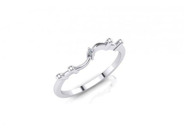 18K White Gold IF-FG Diamond Ring 0.005 ct-SDR1640