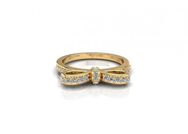 18K Yellow Gold IF-FG Diamond Ring 0.169 ct