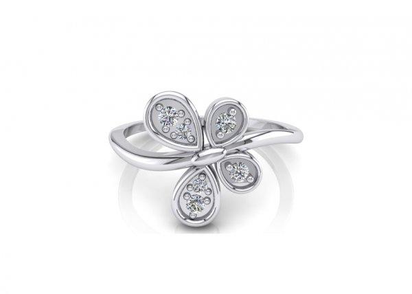 18K White Gold IF-FG Diamond Ring 0.074 ct-SDR1936