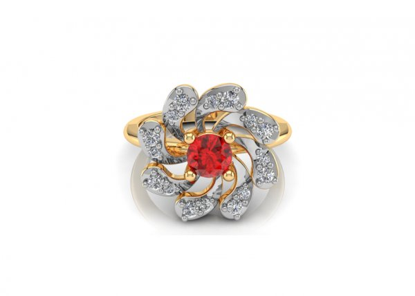 18K Yellow Gold IF-FG Diamond Ring 0.176 ct