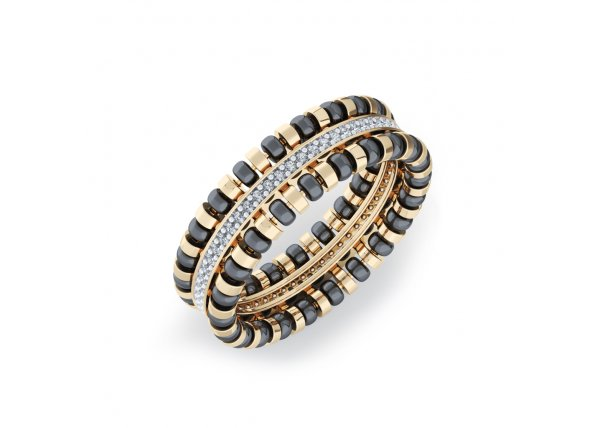 18K Yellow Gold IF-HI Diamond Ring 0.145 ct-SDR1973