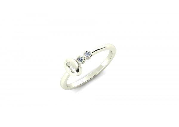 18K White Gold IF-HI Diamond Ring 0.03 ct-SDR1989